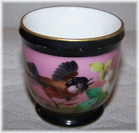 Beautiful Hand Painted Victorian Era Large Egg Cup / Cache Pot