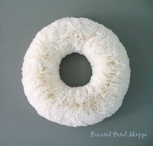 Handcrafted CoffeeFilter XL Wall Wreath/Wedding/Christmas Wreath Belleville Belleville Area image 1