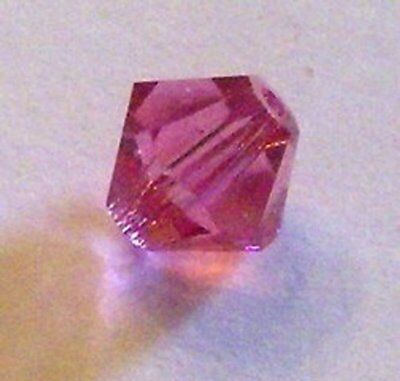 Swarovski bicone Austrian crystal beads faceted Rose pink choose package (Pink Swarovski Bicone)