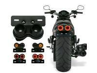Motorcycle universal rear light led built in indicators number plate light and plate holder