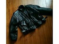 Leather biker jacket as new condition 52 chest