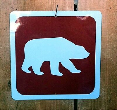 Bear Symbol Highway Route Sign