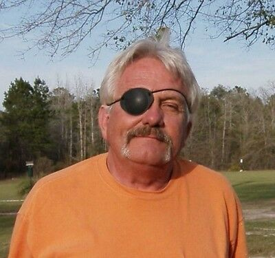 World's Best Eye Patch ADULT BLACK ,LASTS FOR YEARS , Replaceable