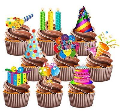 hen Dekoration, Luftballons Kerzen Hüte 12 (Geburtstag Kuchen Hüte)