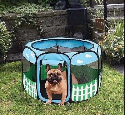 Large Pet Dog Cat Tent Playpen Exercise Soft Crate Portable Fold Case New Design