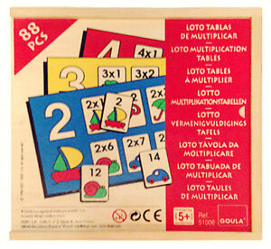 New 88 Piece Multiplication Tables Game
