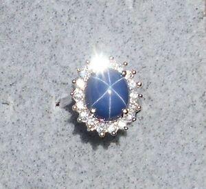 Vintage Signed Linde Lindy Crnflwr Blue Star Sapphire