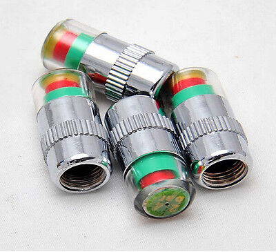 4X Pressure Monitor Valve Stem Alert Cover Sensor Car Auto Air Tire Valve Caps