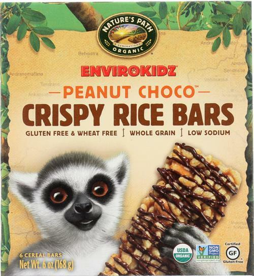 Envirokidz-Organic Peanut Chocolate Crispy Rice Bar, Pack of 6 ( 6 oz boxes )