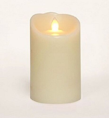 """Pillar Candle Flicker Flame 3"""" x  5"""" Cream by Candle Impress"""