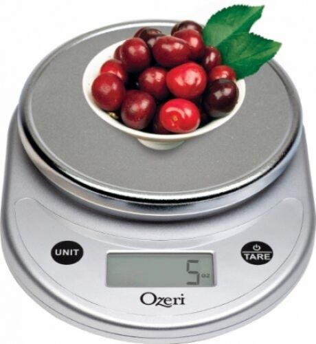 Kitchen and Food Scale Digital Chrome Cooking Diet Portions Home Office Mail