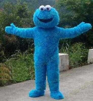 Cookie Monster Costume Mens (2020 Hot Halloween Sesame Street Cookie Monster Mascot Costume Fancy Suit)