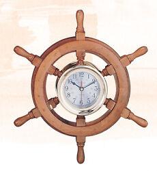 18 Captain's Ship Wheel Clock