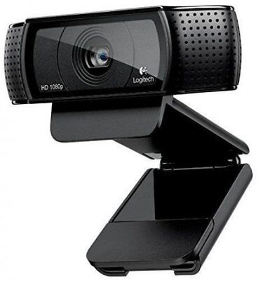 Logitech C920R Webcam Web Cam Camera PC Computer 1080P Black