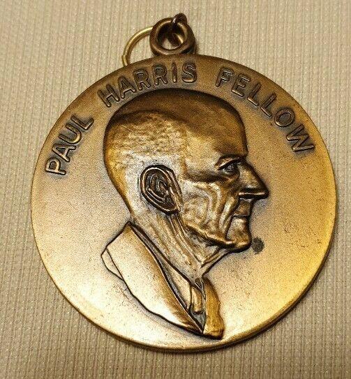 Vintage Paul Harris Fellow Rotary Foundation International Medallion Pendant