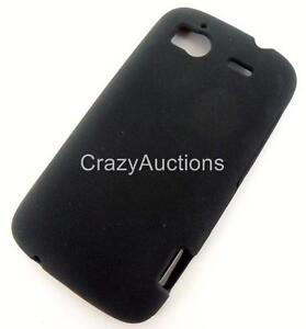 New Original OEM TMobile HTC Sensation 4G Premium Black Hard Gel Skin Case Cover