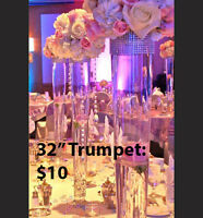 """Tall Glass Vases Wedding Centerpieces 32"""" 40"""" Sale"""