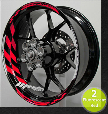 Motoinkz Wheel Rim Stripes Tape Decals Stickers Graphics Universal For all Bikes ()