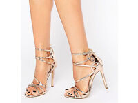 River Island Rose Gold Heels size 5 Worn Once Excellent Condition