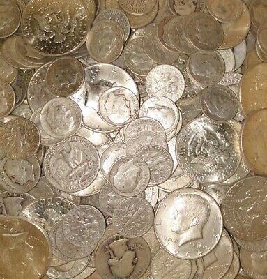Quality $2.00 Face Value 90/% Silver Junk Date Quarters Survival Money Pre 1965