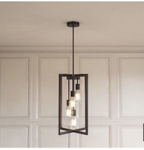 Pendant light fixture with industrial look