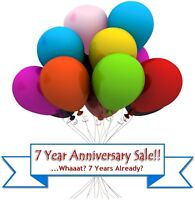 7 Year Anniversary Sale and CELEBRATION!