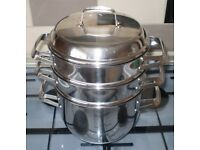 HIGH QUALITY Hackman Finland 18/10 Stainless Steel Steamer Pan Set - In Excellent Condition