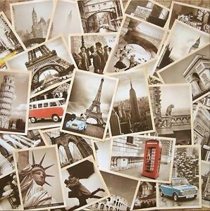 Lot of 32 Vintage Landscape Postcards 4x6 inch photo picture poster print 103