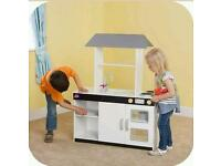 NEW Plum Boston Wooden Kitchen with Accessories, over 1m, Boxed, RRP £149.00