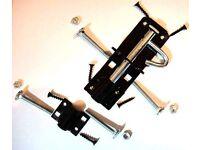 J-lock bolt for sheds etc