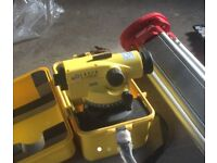 Laser alignment dumpy level by Leica