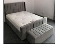 Wingback beds with foam mattress