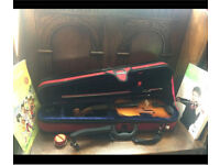 1/4 Size Violin with case and accessories