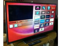 """HITACHI 42"""" FULL HD SMART LED TV WITH BUILT IN WiFi FREEVIEW HD, HDMI NEW CONDITION FULLY WORKING"""