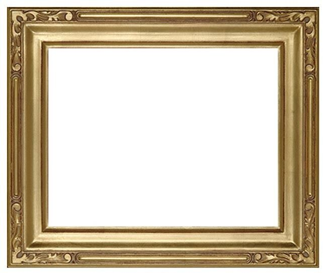 8 x 10 Arts /& Crafts Style Picture Frame Hand Applied Gold Leaf  Beautiful Style