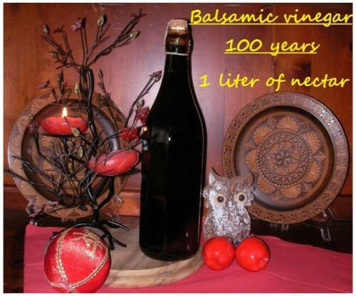 BALSAMIC VINEGAR OF MODENA 1 LITER OLD 100 YEARS,FRUITY, SWEET, CREAMY, TASTY.