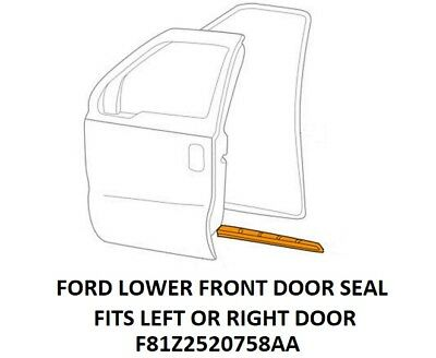 FORD F250-F450 Super Duty 99-16 Front Door-Lower Weatherstrip Seal F81Z2520758AA