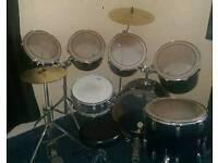7 piece premier royale black drum kit