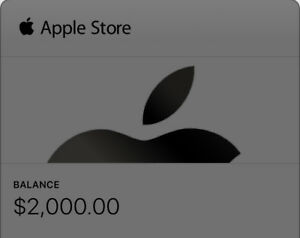 $2000 apple gift card for sale