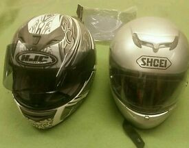 Shoei Raid 2 & HJC Draco Motorbike Helmets