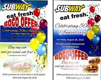 BUY ONE GET ONE FREE (SUBWAY)