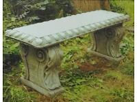 Victorian cast stoneware garden Bench