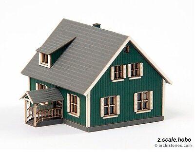 Archistories Z Scale 404111 Small House  Johannson  Building Kit  New  0 Ship