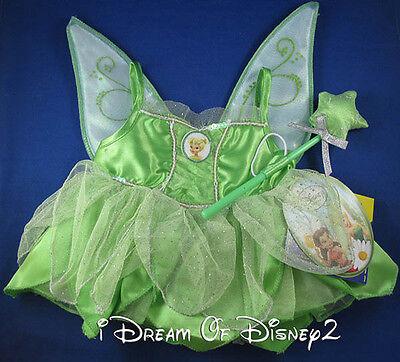 Build-A-Bear TINKERBELL DISNEY FAIRY DRESS & Pixie Dust WAND Teddy Costume