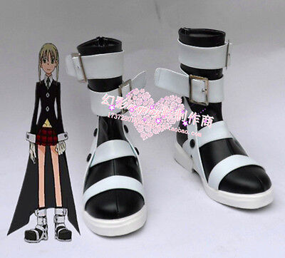 Soul Eater Maka Albarn Cosplay Shoes Halloween Party Boots H016