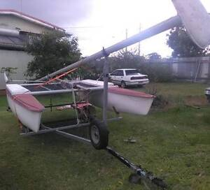 """Catamaran and trailer """"redco"""" parts or whole Kallangur Pine Rivers Area Preview"""
