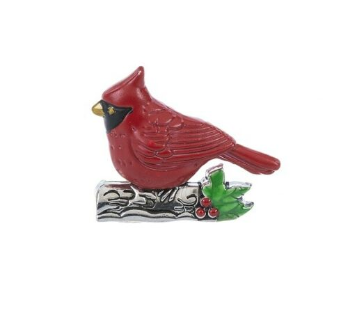 Ganz Christmas Cardinal From Heaven Stone Charm Figurine Token w/Story Poem Card