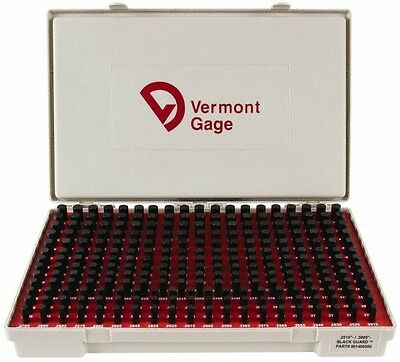 Vermont Gage 250 Piece 0.2515-0.5005 Inch Diameter Plug And Pin Gage Set Min...