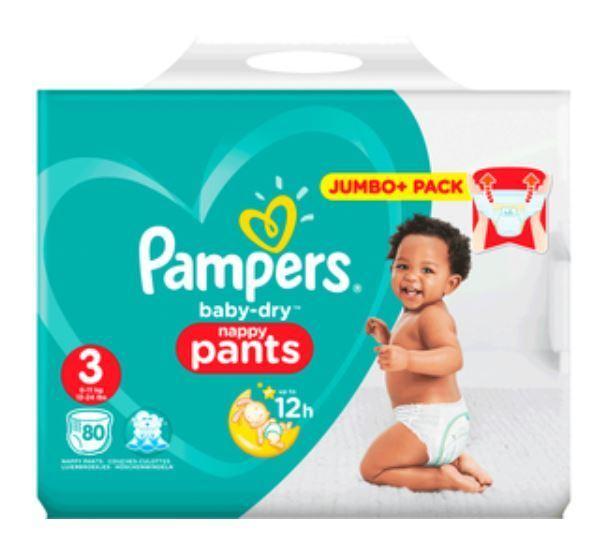 Pampers Baby Dry Pants Gr. 3 (6-11kg) Jumbo Plus Pack ( 80 stück)