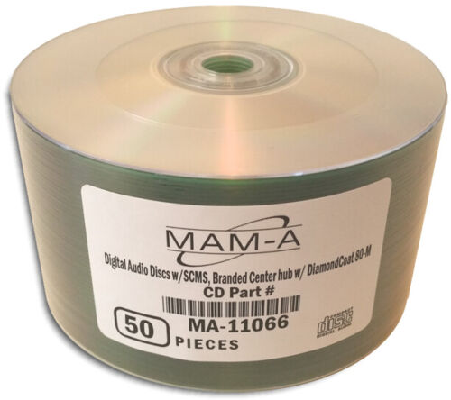 50-Pak DIGITAL-AUDIO CDR-DA 80-Min CD-Rs by MAM-A (Mitsui)!  Mitsui 11066